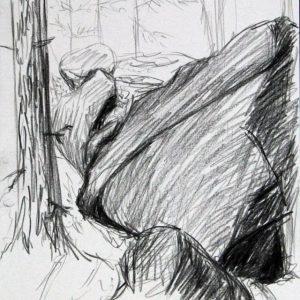 Heidrun Wettengl: Hedmark 1/13, Bleistift auf Papier, 29,7x21 cm, 2015. Alle Rechte vorbehalten.