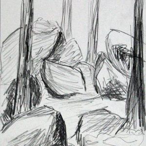 Heidrun Wettengl: Hedmark 2/13, Bleistift auf Papier, 29,7x21 cm, 2015. Alle Rechte vorbehalten.