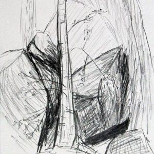 Heidrun Wettengl: Hedmark 4/13, Bleistift auf Papier, 29,7x21 cm, 2015. Alle Rechte vorbehalten.