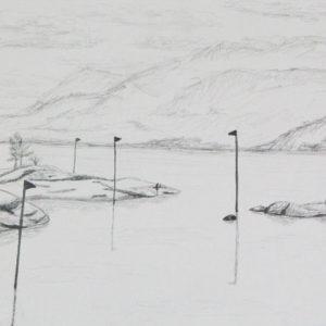 Heidrun Wettengl: Hedmark 7/13, Bleistift auf Papier, 21x29,7 cm, 2015. Alle Rechte vorbehalten.