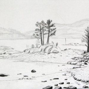Heidrun Wettengl: Hedmark 8/13, Bleistift auf Papier, 21x29,7 cm, 2015. Alle Rechte vorbehalten.