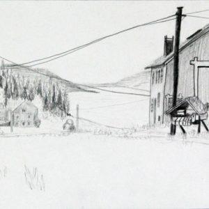 Heidrun Wettengl: Hedmark 9/13, Bleistift auf Papier, 21x29,7 cm, 2015. Alle Rechte vorbehalten.