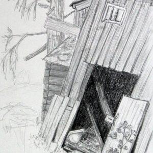Heidrun Wettengl: Hedmark 13/13, Bleistift auf Papier, 29,7x21 cm, 2015. Alle Rechte vorbehalten.