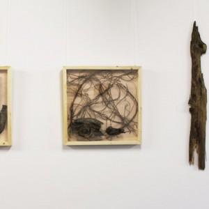 Heidrun Wettengl: Holz 3.0 - Gruppe I, Wandinstallation, Holzobjekte, Objektkästen jeweils 52x52 cm, 2014. Alle Rechte vorbehalten.