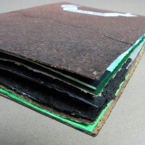Heidrun Wettengl: Vom Lied der Erde, Künstlerbuch (Gesamtansicht), Mixed Material, 35x25 cm, 2013. Alle Rechte vorbehalten.