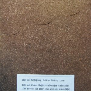 Heidrun Wettengl: Vom Lied der Erde, Künstlerbuch (Rücken), Mixed Material, 35x25 cm, 2013. Alle Rechte vorbehalten.