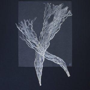Heidrun Wettengl: Inside 7/10, Kozofaser auf Papier, 100x70 cm, 2016. Alle Rechte vorbehalten.