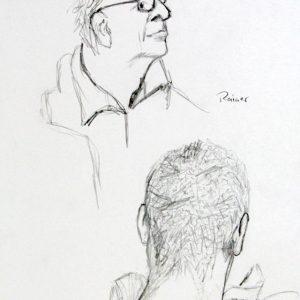 Heidrun Wettengl: Portraits auf Åsgård 2, Bleistift auf Papier, 29,7x21 cm, 2015. Alle Rechte vorbehalten.