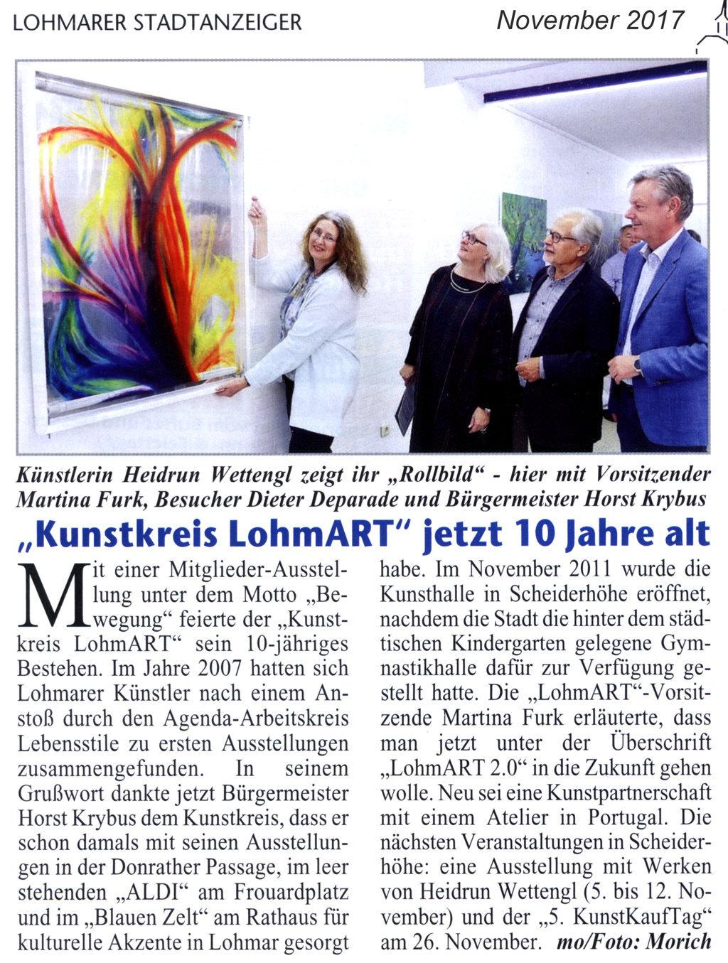 2017-11_Lohmarer-Stadtanzeiger_LohmART-2-0