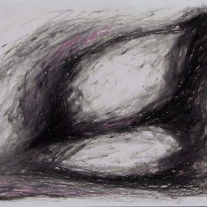 Heidrun Wettengl: Ohne Titel (Formen 3), Ölkreide auf Papier, 21x29,7 cm, 2012. Alle Rechte vorbehalten.