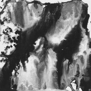 Heidrun Wettengl: Seelenwelten 10, Acryl auf Karton, 20x20 cm, 2012. Alle Rechte vorbehalten.