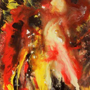 Heidrun Wettengl: Wesen, Acryl auf Leinwand, 70x50 cm, 2012. Alle Rechte vorbehalten.