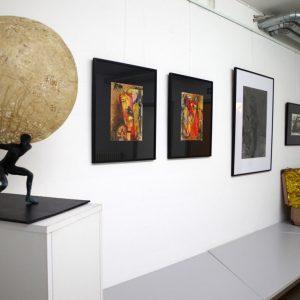 Heidrun Wettengl: Ausstellung Vielerlei (Foyer), 2017; Alle Rechte vorbehalten.