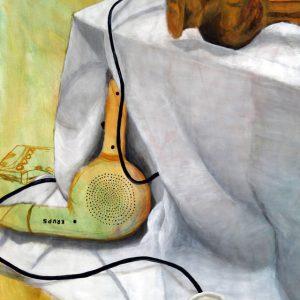 Heidrun Wettengl: Abgelegt, Acryl auf Papier, 96,5x66,5 cm, 2011. Alle Rechte vorbehalten.
