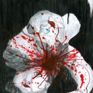 Heidrun Wettengl: Crash 1, Bleistift, Tusche, Tinte auf Papier, 21x29,7 cm, 2011. Alle Rechte vorbehalten.