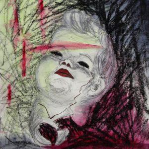Heidrun Wettengl: Crash 2, Bleistift, Wachskreide, Tinte auf Papier, 40x29,3 cm, 2011. Alle Rechte vorbehalten.
