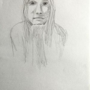 Heidrun Wettengl: In Gedanken 1, Bleistift auf Papier, 29,7x21 cm, 2011. Alle Rechte vorbehalten.