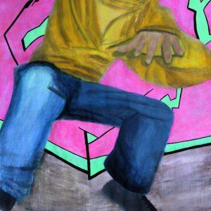 Heidrun Wettengl: Jump, Acryl auf Papier, 96,5x66,5 cm, 2011. Alle Rechte vorbehalten.