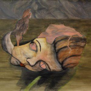 Heidrun Wettengl: Lichtblick, Acryl auf Papier, 70x100 cm, 2011. Alle Rechte vorbehalten.