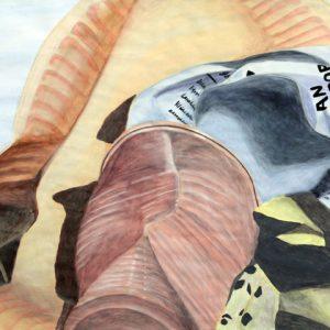 Heidrun Wettengl: Trash, Acryl auf Papier, 66,5x96 cm, 2011. Alle Rechte vorbehalten.