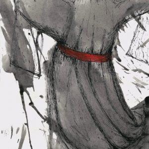 Heidrun Wettengl: Windsbraut, Tusche und Tinte auf Papier, 29,7x21 cm, 2011. Alle Rechte vorbehalten.