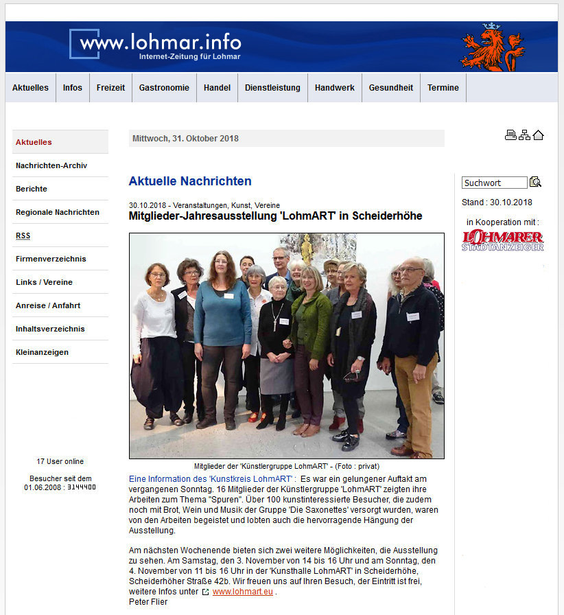 2018-10-30_lohmar-info - Internet-Zeitung_Spuren