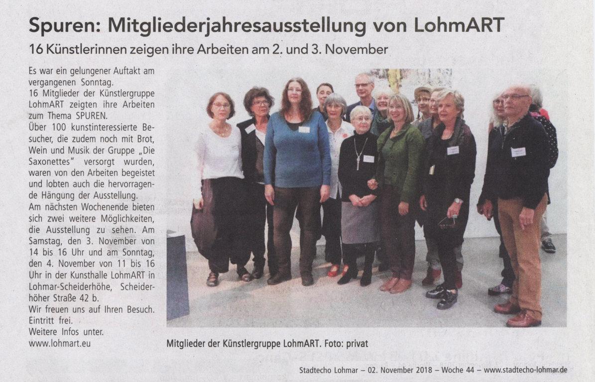2018-11-02_Stadtecho Lohmar_Spuren