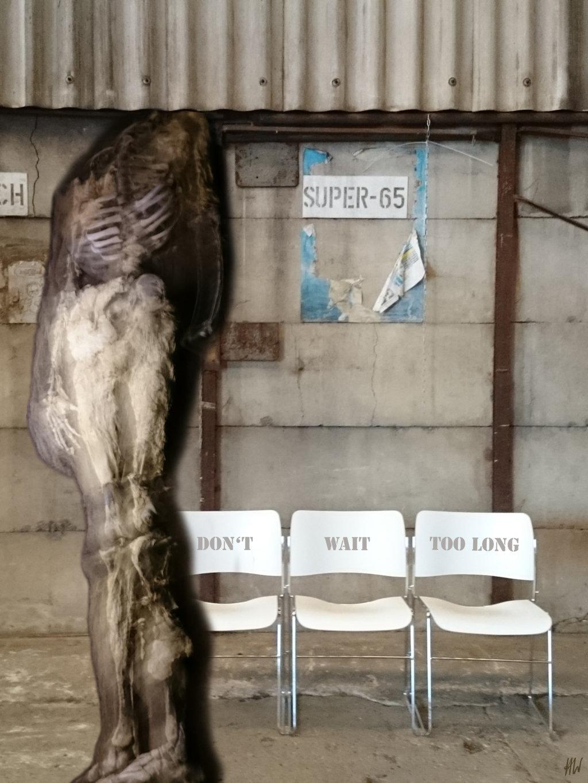 Heidrun Wettengl: Don't wait too long (Ausschnitt), Fotomontage aus eigenen Aufnahmen, 45 x 80 cm, 2021. Alle Rechte vorbehalten.